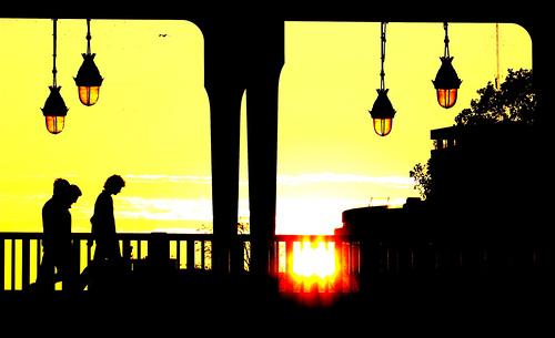 Tristant Nitot - Contre jour au pont de Bir Hakeim