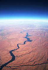 Tristant Nitot - Rivière/fleuve aux USA pris depuis un avion